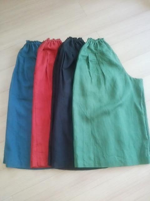キュロットスカートの丈。長くしても短くしても同じお値段です。