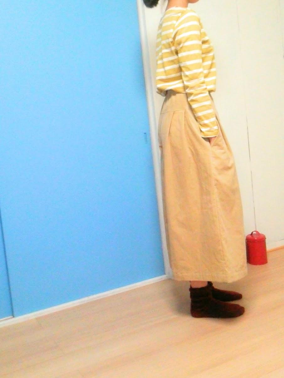 冬は、あったかキュロットスカートがいいな。という方には、冬限定のコーデュロイがおすすめです。