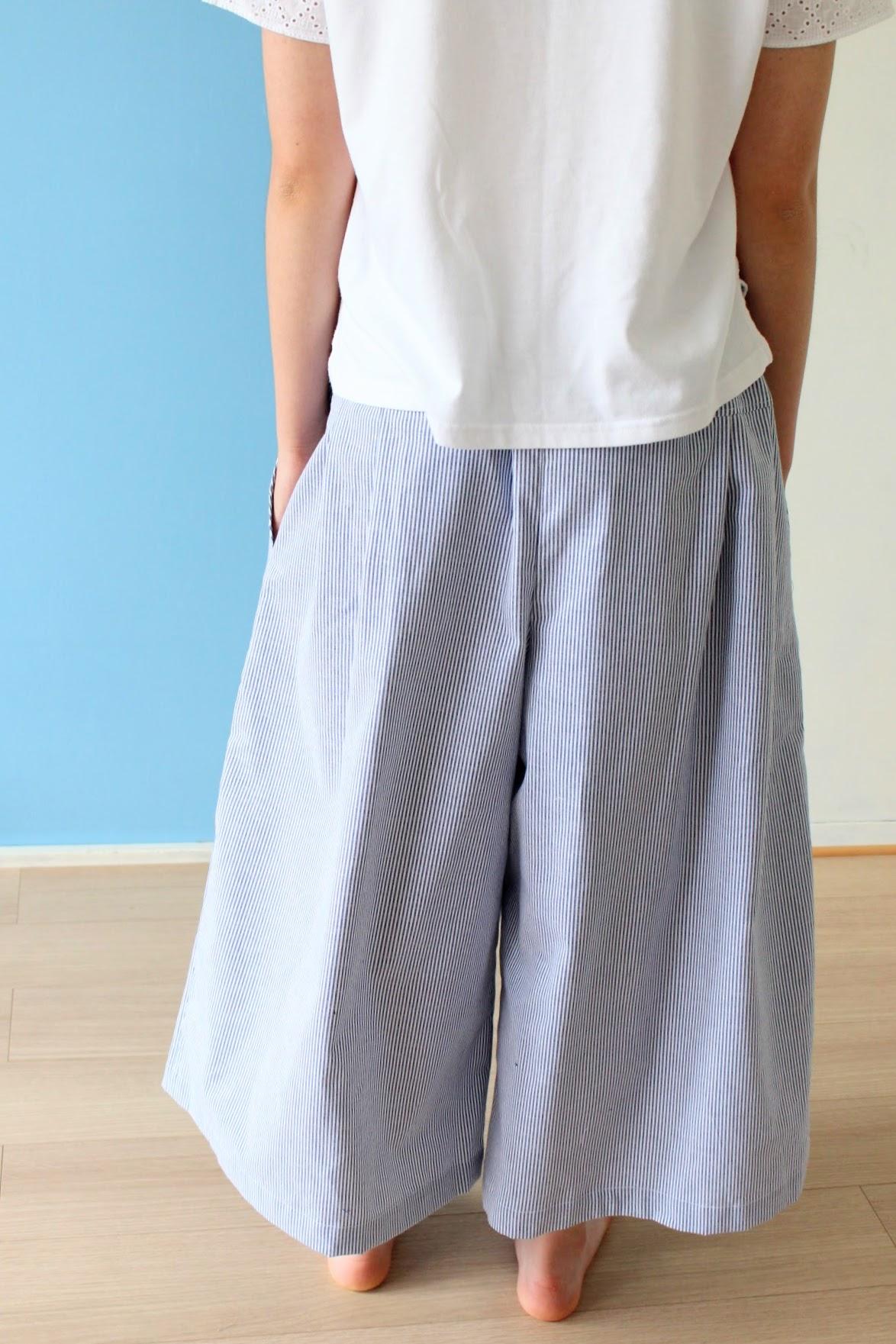 そろそろ夏のお洋服の準備始めませんか?涼しいキュロットスカートでお出かけを。