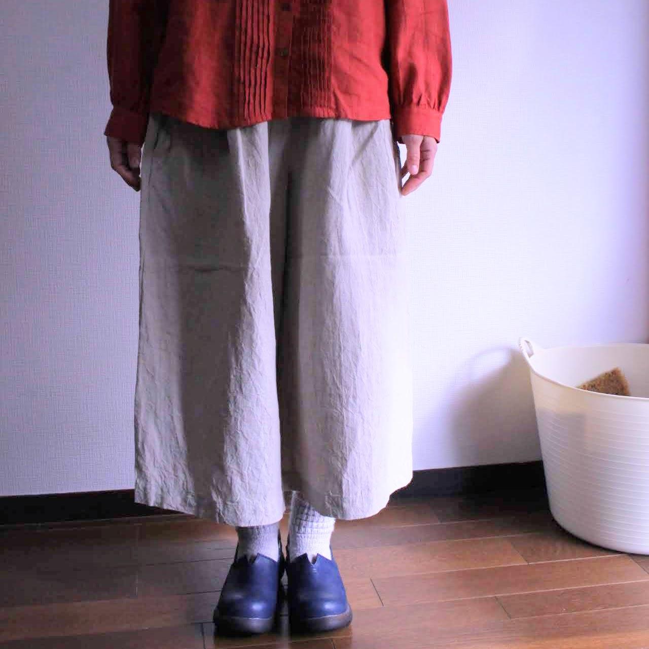ワッシャーリネンキュロットスカートと服袋ネット販売について。