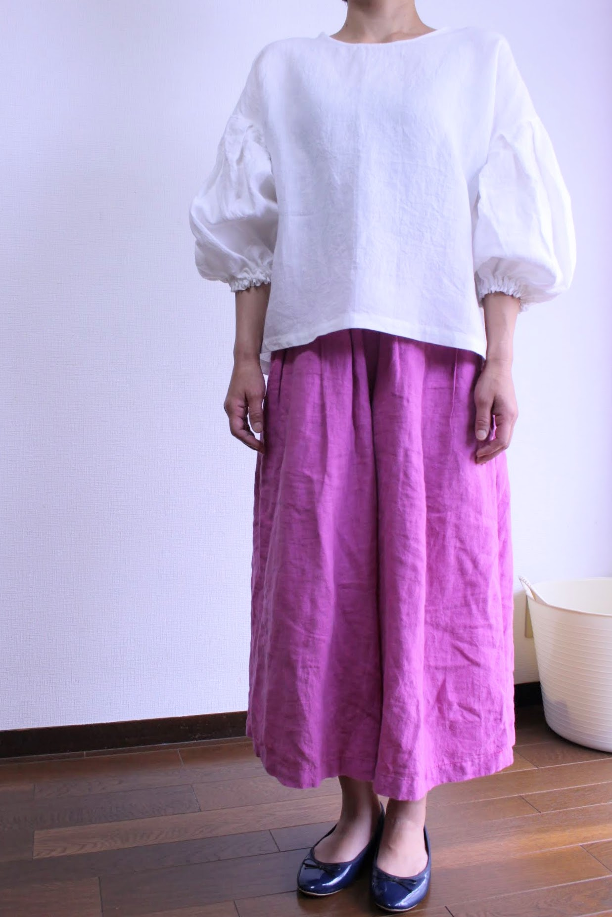 ピンク色のキュロットスカート人気が出てきました。