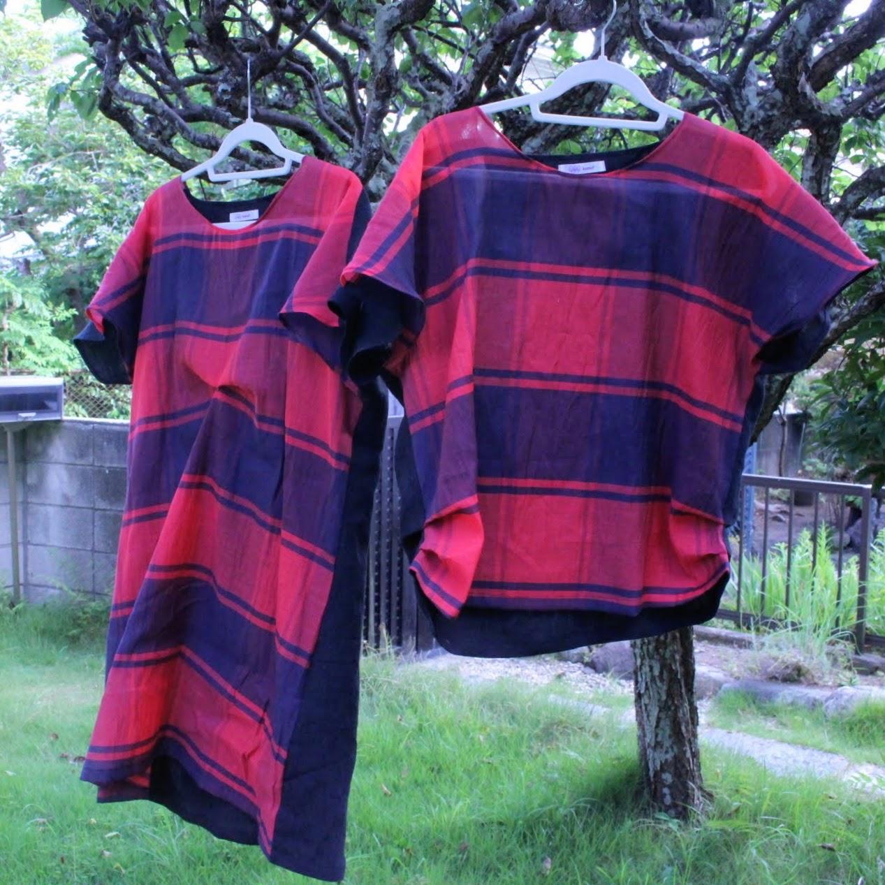 秋色のリネンジャンパースカート