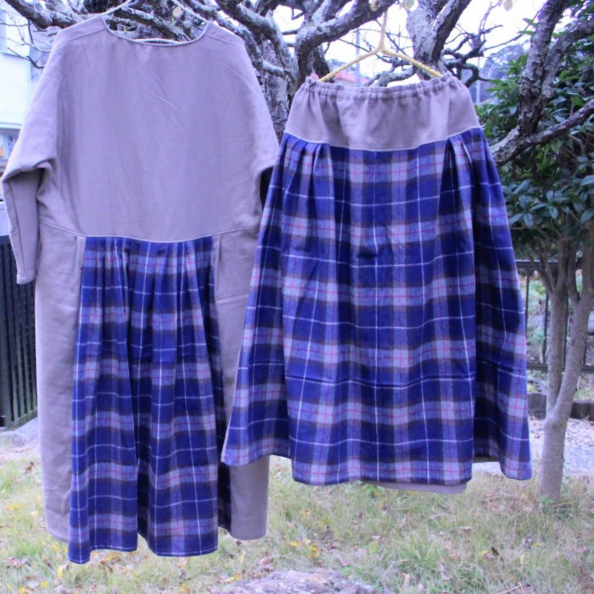 冬のお洋服は、ウール。そんなウール好きさんのためのスカート。