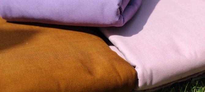 コーデュロイの新色入ってます。まずは、3種類ピンク・ラベンダー・キャメル。