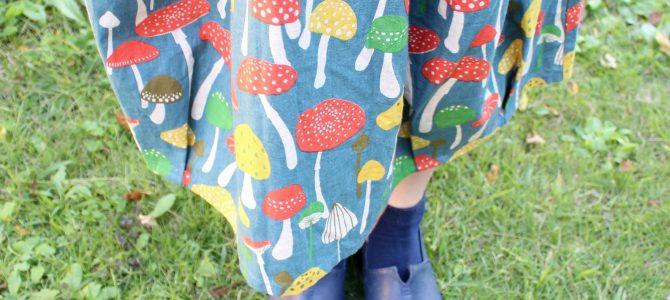 秋は、きのこ柄スカートをはいてみます?