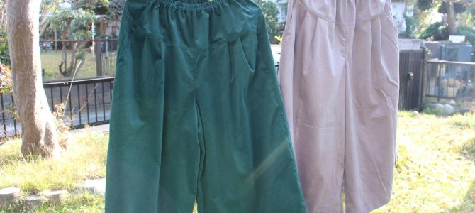 秋冬の定番と言ったらコーデュロイのキュロットスカート。