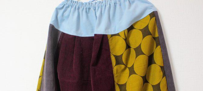 広がらないスカートもいくつか作っています。