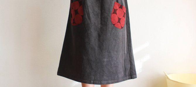 タック無しスカートは、広がらないのがいい?