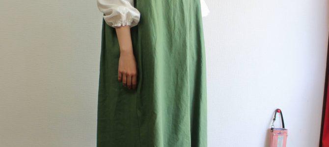 ジャンパースカートはゆったりがおすすめ。