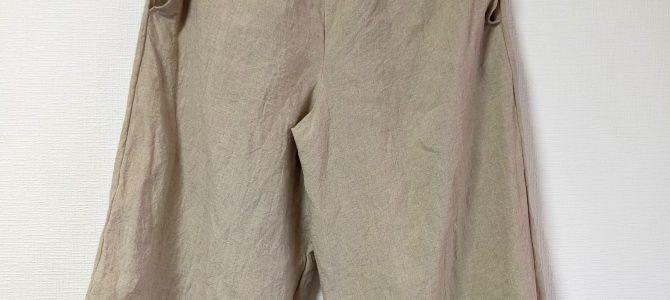 ワッシャーリネンの細キュロットスカート